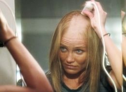 Vassilieva shaved head